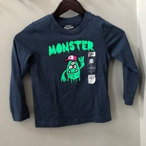 Oshkosh long Sleeve Monster Shirt 5T